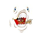 Santa Spitting Shark Humorous Christmas Pillow by Vickie Emms