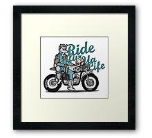 Ride fur ya life: Wolfman Framed Print