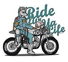 Ride fur ya life: Wolfman Photographic Print