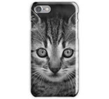 Cute black and wihte cat face iPhone Case/Skin