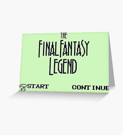The Final Fantasy Legend (Gameboy Title Screen) Greeting Card