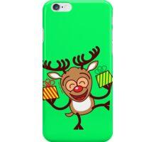 Christmas Reindeer bringing gifts iPhone Case/Skin