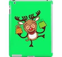 Christmas Reindeer bringing gifts iPad Case/Skin