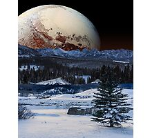 Pluto's Closing in on Us Photographic Print