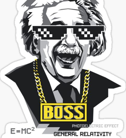 "Einstein ""The Boss"" Sticker"