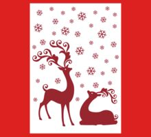 Cute Christmas deer Kids Tee