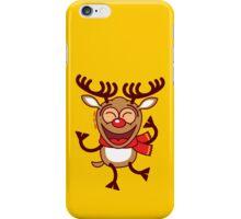 Christmas Reindeer dancing animatedly iPhone Case/Skin