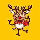 Christmas Reindeer dancing animatedly by Zoo-co