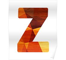 Letter Z - Wood Initial Poster