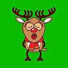 Sweet Christmas reindeer singing  by Zoo-co
