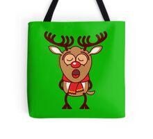 Sweet Christmas reindeer singing  Tote Bag