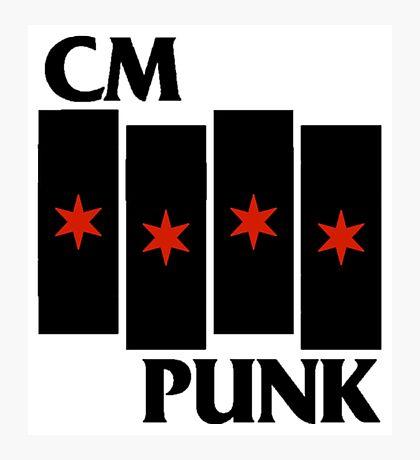 CM Punk Black Flag Photographic Print