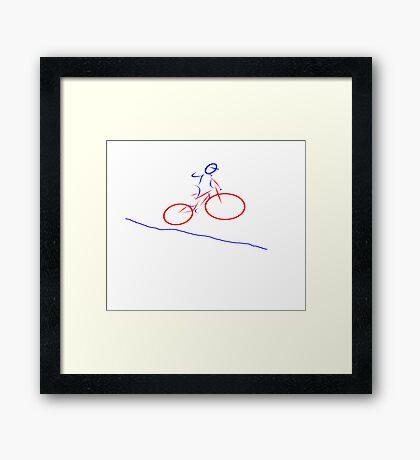 Downhill Mountain Biking Framed Print