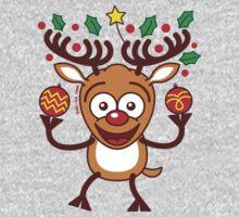 Cool Reindeer Decorating for Christmas Kids Tee