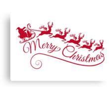 Merry Christmas, Santa Claus with his sleigh Canvas Print