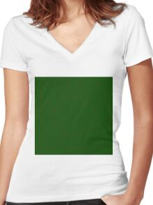 Green Vector Women's Fitted V-Neck T-Shirt