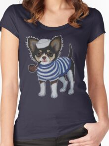Sailor Chihuahua Women's Fitted Scoop T-Shirt