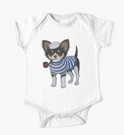 Sailor Chihuahua One Piece - Short Sleeve