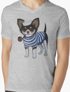 Sailor Chihuahua Mens V-Neck T-Shirt