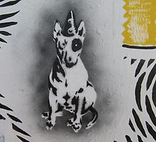 Bull Terrier graffiti by threebrownhares