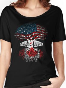 Grows up in America Rooted in Canada T-shirt Women's Relaxed Fit T-Shirt