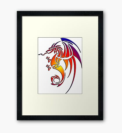 Dragissous V1 dragon Framed Print