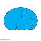 Blue elephant by Michael Birchmore