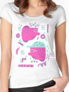 Funky Heads T-shirt femme moulant à col profond