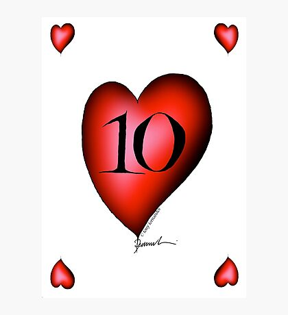 10 of Hearts - tony fernandes Photographic Print