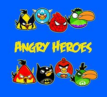 angry heroes by vimivu