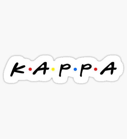 kappa retro~ Sticker
