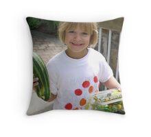 The Happy Gardener Throw Pillow