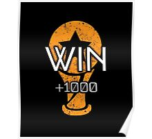 Rocket Leaugue Video Game Win +1000 Funny Gifts Poster