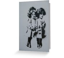 Graffiti Twins Greeting Card