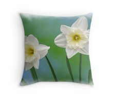 Daffodil Twins Throw Pillow