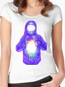 cosmic inside Women's Fitted Scoop T-Shirt