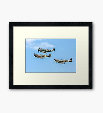 A Vic of Spitfires Framed Print