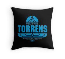 Torrens (blue) Throw Pillow