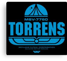 Torrens (blue) Canvas Print