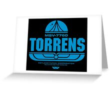 Torrens (blue) Greeting Card