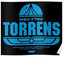 Torrens (blue) Poster