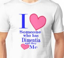 Dimentia alzheimers awareness shirt for special loved ones Unisex T-Shirt