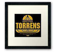 Torrens (yellow) Framed Print