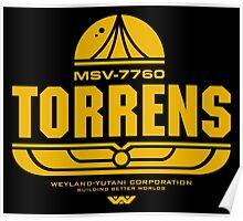 Torrens (yellow) Poster