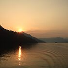 Sunset on the Yangtze River by Lynn Bolt