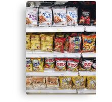 Korean Snacks Canvas Print