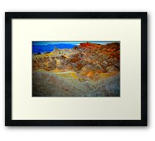 Death Valley's Zabriskie Point Framed Print