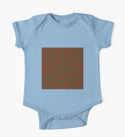 Red and Green Vector One Piece - Short Sleeve