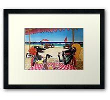 The Dolphin Shack Framed Print