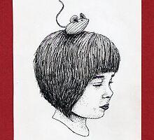 Little Girl & Mouse by Chloé Arzuaga